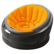 INTEX Empire felfújható fotel, narancssárga/fekete, 112 x 109 x 69cm (68582)