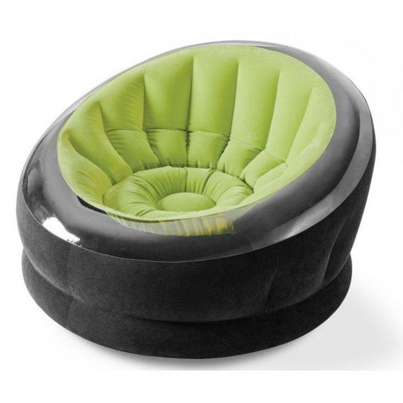 INTEX Empire felfújható fotel, zöld/fekete, 112 x 109 x 69cm (68582)