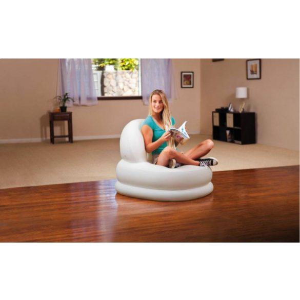 INTEX Mode felfújható fotel, fehér, 84 x 99 x 76cm (68592)