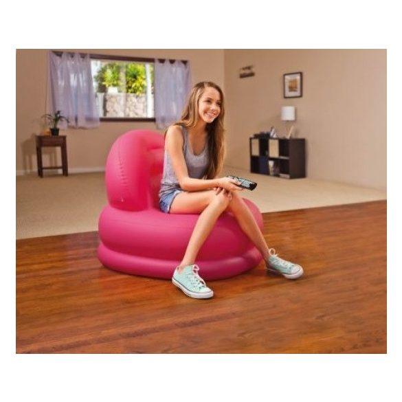 INTEX Mode felfújható fotel, magenta, 84 x 99 x 76cm (68592)