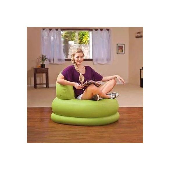 INTEX Mode felfújható fotel, zöld, 84 x 99 x 76cm (68592)