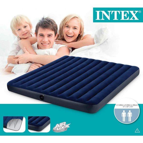 INTEX Classic Downy felfújható matrac, 183 x 203 x 22cm (68755)
