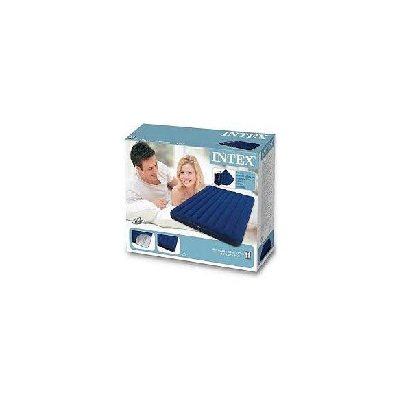 INTEX Classic Downy felfújható matrac szett, párnával és pumpával, 153 x 203 x 22cm (68765)