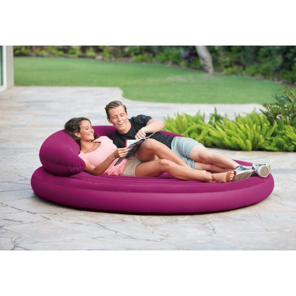 INTEX Ultra Daybed Lounge felfújható ágy, bordó, D191 x 51cm (68881)